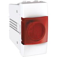 Индикатор Красный 1-мод. Белый Unica Schneider, MGU3.775.18R