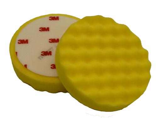 Желтый рельефный полировальный круг 3М D150мм