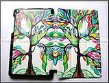 Цветной чехол книжка для Lenovo Tab 3 7.0 Essential 710L 710F эко кожа PU, цвет Life Tree (Живое дерево), фото 4