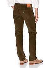 Вельветовые джинсы Levis 514 BROWN