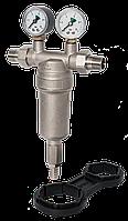 """Фильтр самопромывной RS-k 1/2"""" с 2 манометрами ф.42-6b"""
