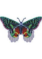 Бабочка (счетный крест, бисер)