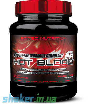 Предтреник Scitec Nutrition Hot Blood 3.0 (820 г) скайтек хот блад tropical punch
