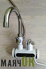 Проточный водонагреватель электрический кран LZ008, с душем, на стену, фото 2
