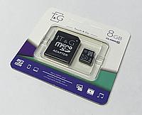 Карта памяти microCD 8 Gb T&G + адаптер класс 10