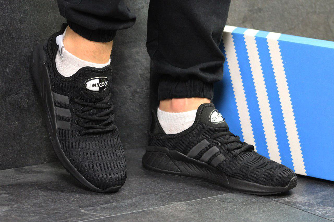 Кроссовки мужские Adidas ClimaCool,сетка,черные 44,45р