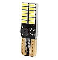 Автолампа LED T10, W5W, 24SMD, 4014, CANBUS, фото 1