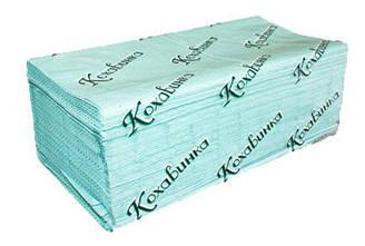"Бумажные полотенца ""Кохавинка"" Z типа 23х25см (170шт) зеленые"