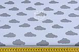 Бязь с одинаковыми серыми облаками на белом фоне (№838)., фото 2