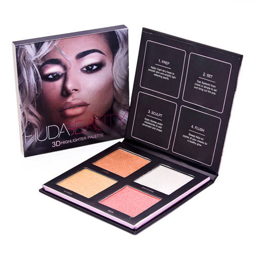 Хайлайтер Huda Beauty highlighter palette 4 цвета (Палитра В)