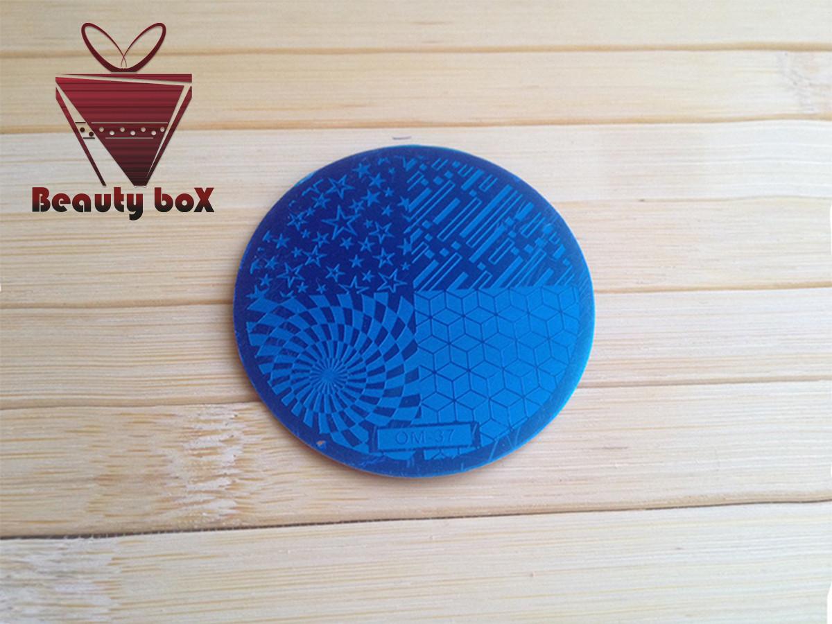Пластина для стемпинга (круглая) OM 37