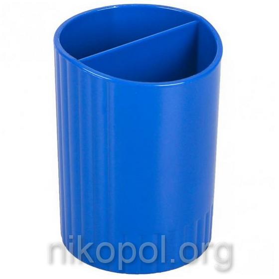 "Стакан для ручек ""КиП - СТРП-02"", синий 7х9см."