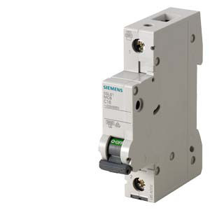 Автоматический выключатель Siemens Sentron  (230/400В, 6КА, 1-пол, В, 63А), 5SL6163-6