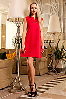 Красивое Платье Туника без Рукавов Красное S-XL