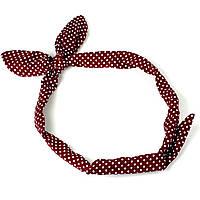 Повязка на голову Солоха красная в горошек, фото 1