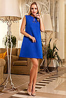 Красивое Платье Туника без Рукавов Электрик S-XL