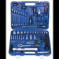 Набор инструмента для дома комбинированный 72ед. СТАНДАРТ ST-0072 (автоинструмент, в чемодане, для автомобиля)