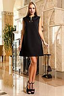 Красивое Платье Туника без Рукавов Черное S-XL, фото 1