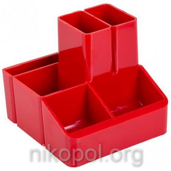 """Стакан для ручек """"КиП - СТРП-04"""", красный 10х11х9см."""