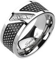 Кольцо из титана с фианитами Spikes, фото 1