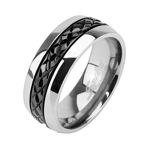 Кольцо титановое для мужчин Spikes (США)