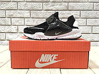 Кроссовки мужские в стиле Nike Sock Dart код товара Z-1160. Черные с белым de6c8376035