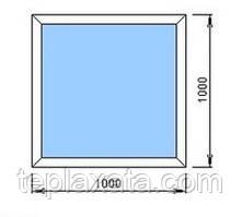 STEKO Окно глухое металопластиковое белое 1,0х1,0 м