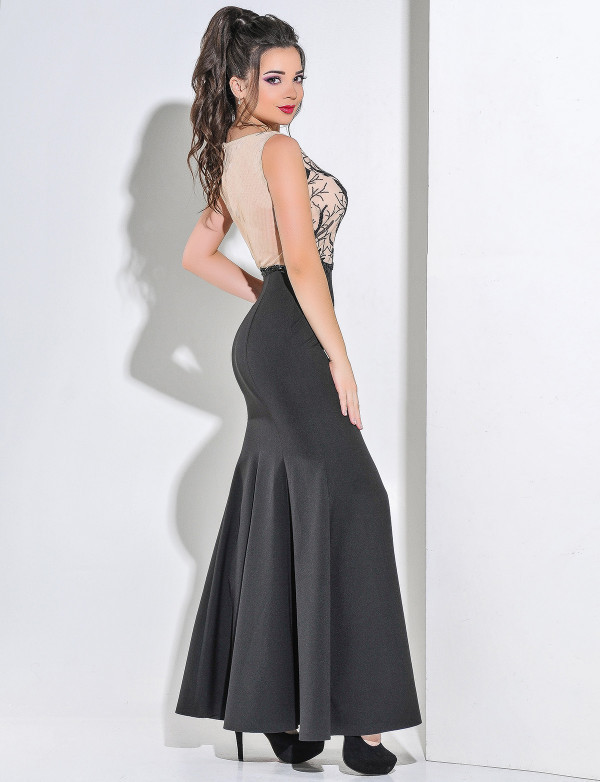 efb822f7d50 Купить Стильное вечернее платье в пол с юбкой годе по выгодной цене ...