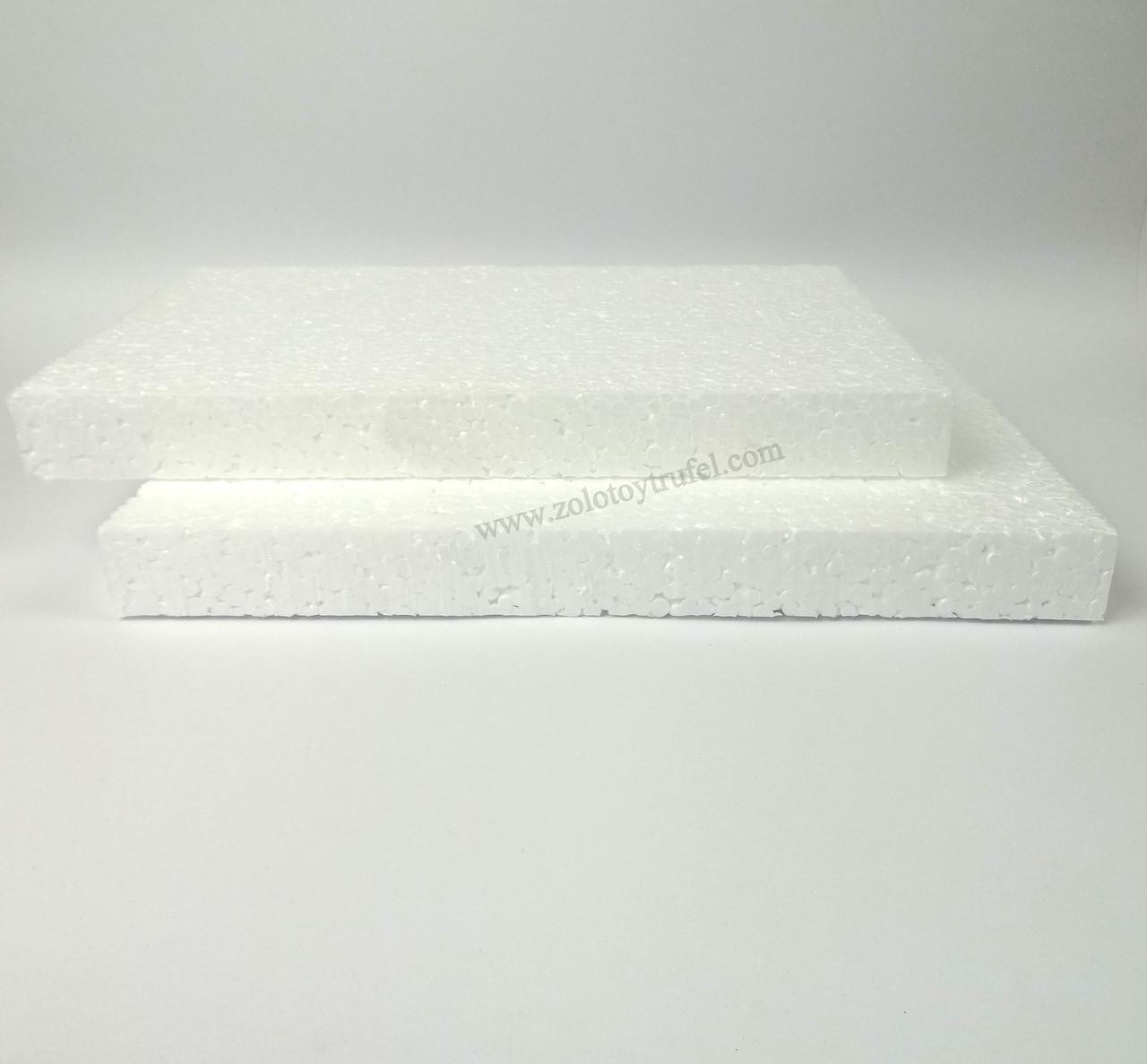 Прослойки пенопластовые для торта 12*12 см h 3 см