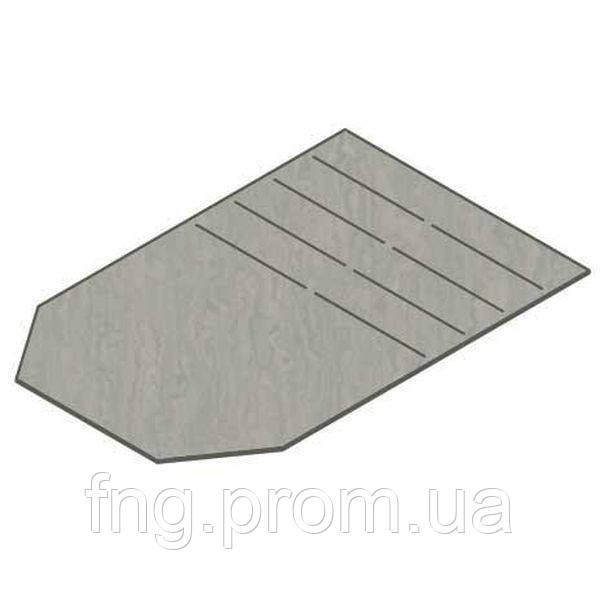 Торцевая заглушка универсальная ТЗ-14,1.12,5ОС-ЛВ для лотка водоотводного DN150 стальная оцинкованная