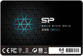 SSD накопитель Silicon Power A55 64GB SATAIII TLC (SP064GBSS3A55S25)