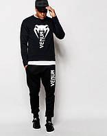 Качественный черный спортивный костюм Venum Венум (большой белый принт) (РЕПЛИКА)