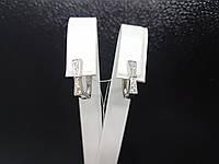 Серебряные серьги с фианитами. Артикул GE4111, фото 1