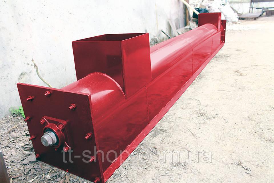 Шнековый транспортер в лотке (желобе) 200 мм, 4 м.