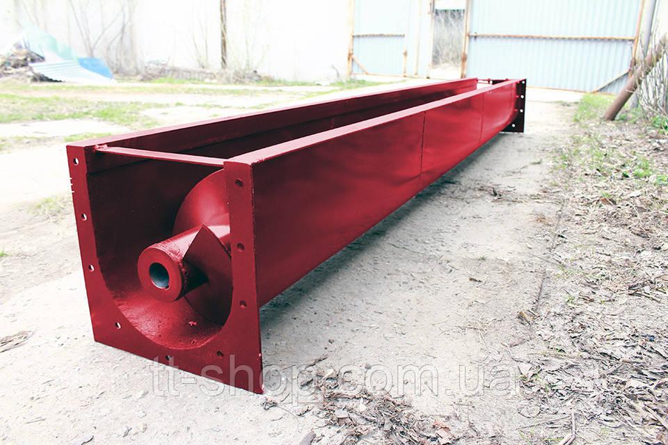 Шнековый транспортер в лотке (желобе) 200 мм, 9 м.