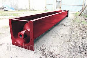 Шнековый транспортер в лотке (желобе) 250 мм, 3 м.