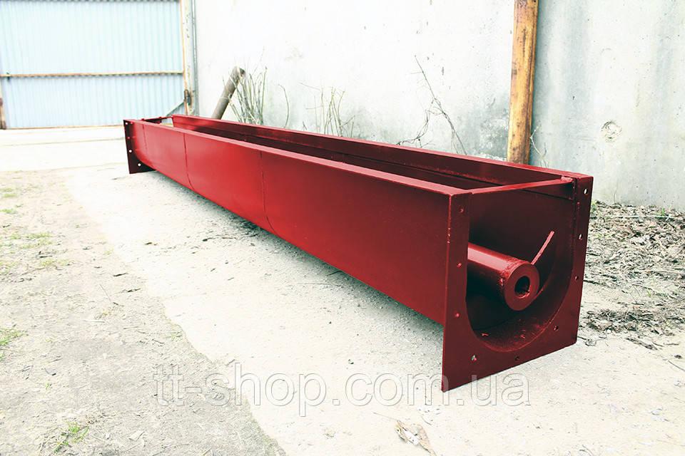 Шнековый транспортер в лотке (желобе) 250 мм, 6 м.