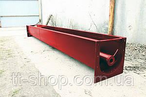 Шнековый транспортер в лотке (желобе) 200 мм, 3 м.