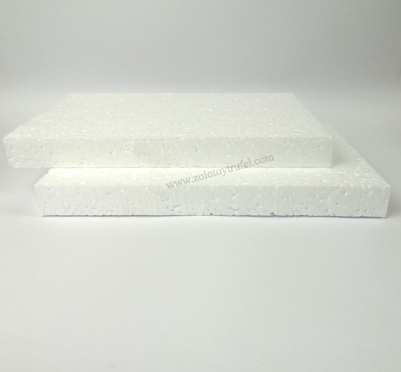 Прослойки пенопластовые для торта 40*40 см h 3 см