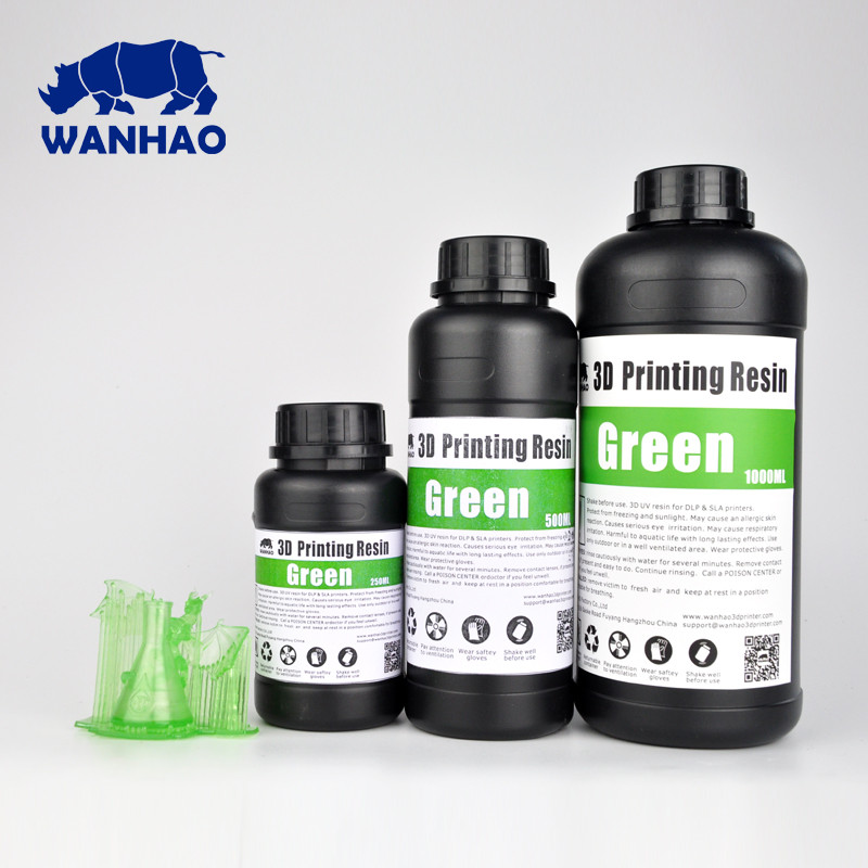 Фотополимер Wanhao Model Зеленый UV 405NM 1л