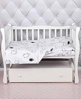 Овечки черно-белые, комплект детского постельного белья в кроватку (поплин)