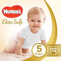 Подгузники Huggies Elite Soft 5 (12-22 кг) 112 шт
