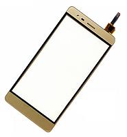 Оригинальный тачскрин / сенсор (сенсорное стекло) для Lenovo Vibe K5 Note | A7020 (золотой цвет)