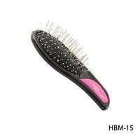 Расческа классическая HBM-15 компактная с металлической щетиной
