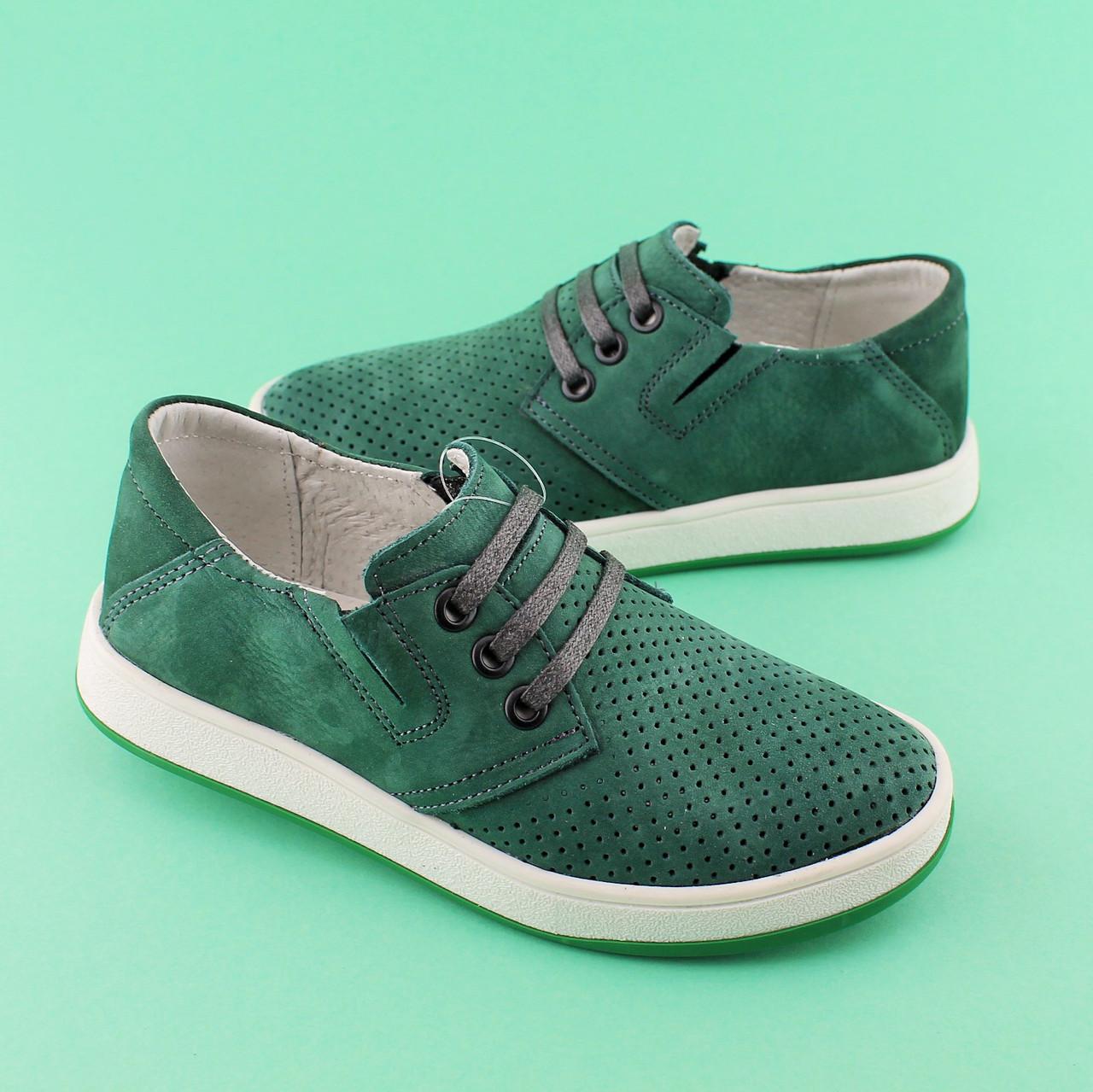 901010cc1 Зеленые туфли кожаные для мальчика подростка Нубук размер 32,34,36,37 -