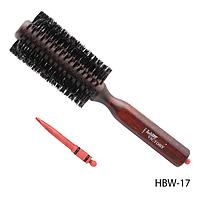 Брашинг на деревянной основе HBW-17 комбинированная с разделителем прядей, размер: 22х2,5х2,5 см