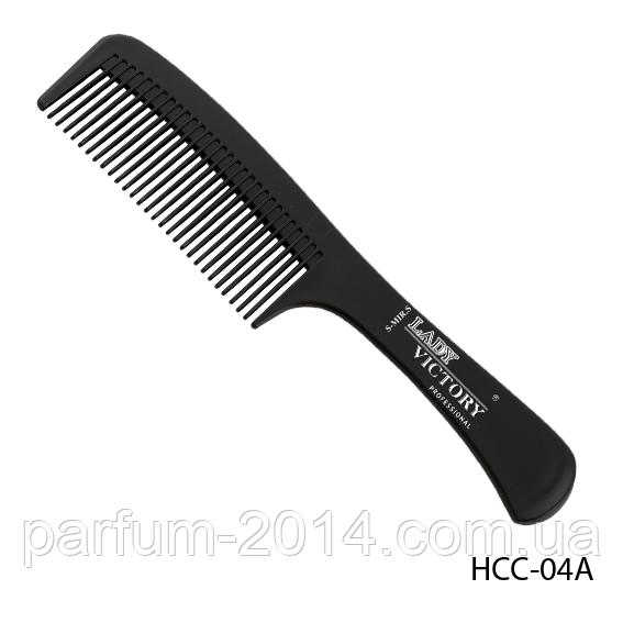 Расческа пластиковая HCC-04A с ручкой, размер: 22,5х4,5 см