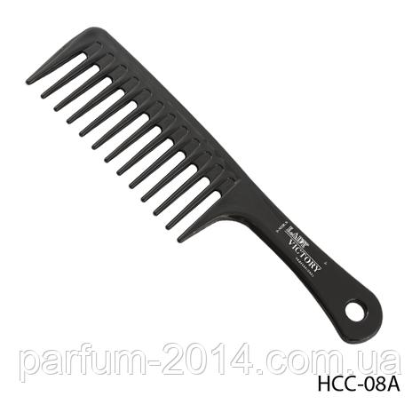 Расческа пластиковая HCC-08A с ручкой, редкими зубцами, размер: 25х6 см, фото 2
