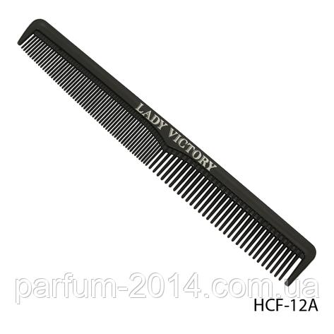 Расческа пластиковая HCF-12A с комбинированными зубьями, скошенная, размер: 17,5х3 см, фото 2