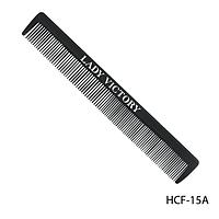 Расческа пластиковая HCF-15A с комбинированными зубьями, размер: 19х3,5 см